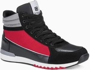 Ombre Buty męskie sneakersy T358 - czarne