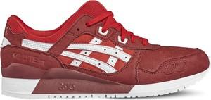 Buty sportowe Asics Lifestyle sznurowane w młodzieżowym stylu ze skóry