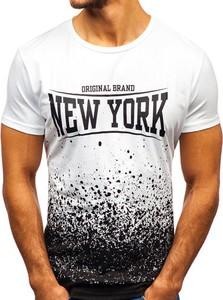 T-shirt Denley w sportowym stylu z bawełny