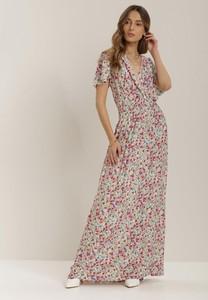 Sukienka Renee maxi z dekoltem w kształcie litery v z krótkim rękawem