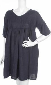 Niebieska sukienka Puro Lino