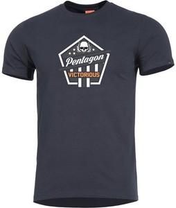 T-shirt Pentagon w młodzieżowym stylu z bawełny z krótkim rękawem