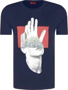 T-shirt Hugo Boss z nadrukiem z krótkim rękawem