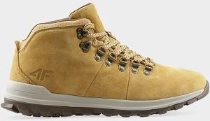 Żółte buty zimowe 4F z zamszu