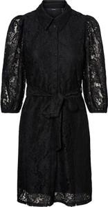 Czarna sukienka Vero Moda z długim rękawem mini