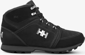 Czarne buty zimowe Helly Hansen sznurowane w sportowym stylu
