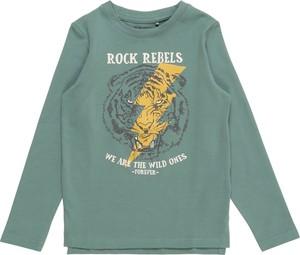 Zielona koszulka dziecięca Blue Seven z bawełny
