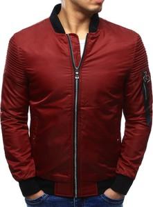 Dstreet kurtka męska bomber jacket bordowa (tx2066)