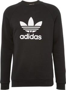 Czarna bluza adidas originals w sportowym stylu z nadrukiem