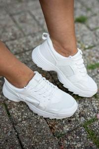 Sneakersy Fason na platformie sznurowane