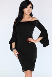 Sukienka MERRIBEL z długim rękawem z bawełny asymetryczna