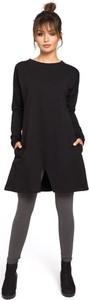 Czarna tunika Merg w stylu casual