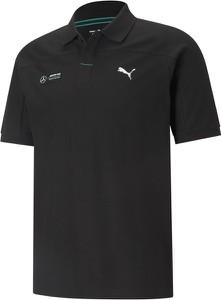 Czarna koszulka polo Puma z krótkim rękawem w sportowym stylu