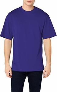 Niebieski t-shirt amazon.de z krótkim rękawem