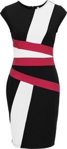 Czarna sukienka bonprix bodyflirt boutique w paski