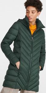 Zielona kurtka Reserved długa w stylu casual