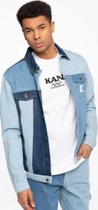 Niebieska kurtka Karl Kani krótka w stylu casual
