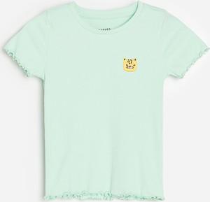 Niebieska bluzka dziecięca Reserved z krótkim rękawem