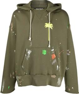 Zielona bluza Palm Angels z bawełny