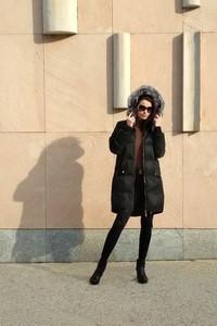 Czarny płaszcz BOCA