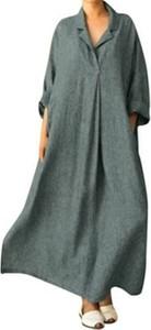 Zielona sukienka Cikelly z bawełny w stylu casual