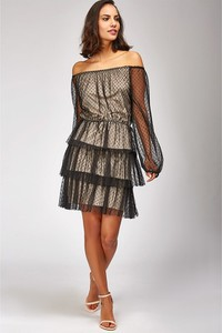 Sukienka Special Dresses hiszpanka z długim rękawem