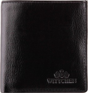 Czarny portfel męski Wittchen ze skóry