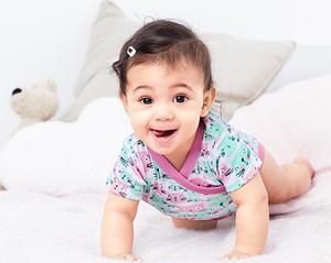 Miętowe body niemowlęce Tchibo dla dziewczynek