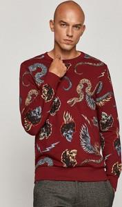 Czerwona bluza Medicine z bawełny z nadrukiem