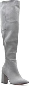 Kozaki DAMISS na obcasie za kolano ze skóry