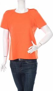 Pomarańczowa bluzka Comptoir Des Cotonniers z okrągłym dekoltem w stylu casual z krótkim rękawem