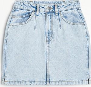Niebieska spódnica Reserved mini w stylu casual