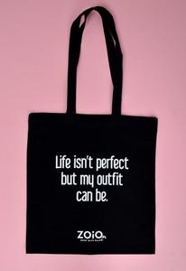Czarna torebka Zoio z tkaniny w młodzieżowym stylu