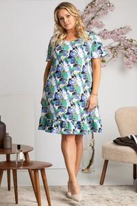 Sukienka KARKO z krótkim rękawem mini trapezowa