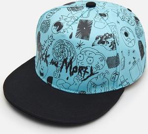 Turkusowa czapka Cropp z nadrukiem