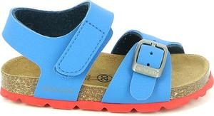 Niebieskie buciki niemowlęce Grünland Junior ze skóry