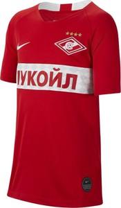 Czerwony t-shirt Nike z krótkim rękawem