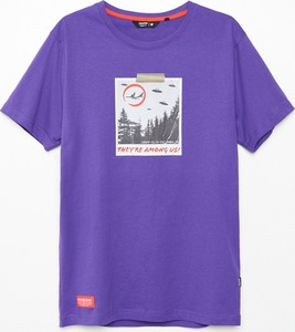 T-shirt Cropp z bawełny z krótkim rękawem