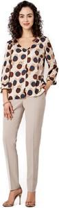 Bluzka POTIS & VERSO z długim rękawem z tkaniny