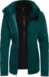 Zielona kurtka The North Face z dzianiny
