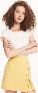 Żółta spódnica Troll mini w stylu casual
