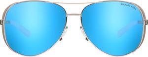 Turkusowe okulary damskie Michael Kors