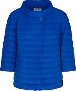 Niebieska kurtka Lavard krótka w stylu casual
