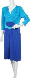 Sukienka Seraphine midi z długim rękawem z dekoltem w kształcie litery v