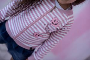 Różowa bluza dziecięca All For Kids z bawełny