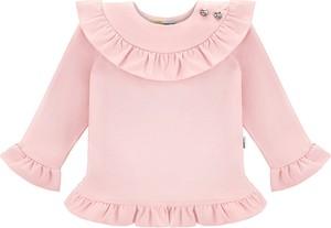 Różowa bluzka dziecięca Bananakids z bawełny