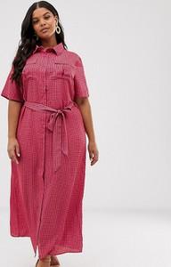 Różowa sukienka Glamorous Curve koszulowa