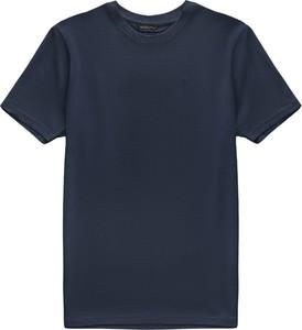 Niebieski t-shirt Borgio w stylu casual