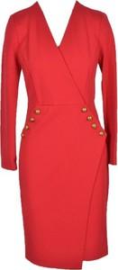 Czerwona sukienka Pinko z dekoltem w kształcie litery v