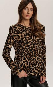 Brązowa bluzka Renee z długim rękawem
